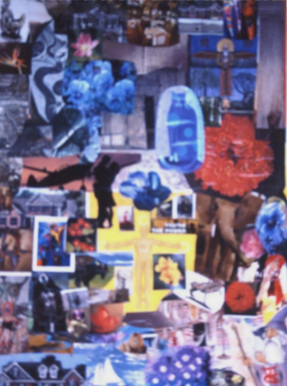Collage Blue Flower