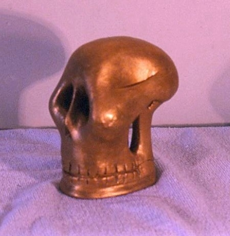Gold Death Head  B