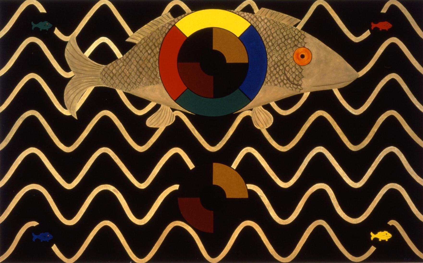 Golden Fish Mandala  2